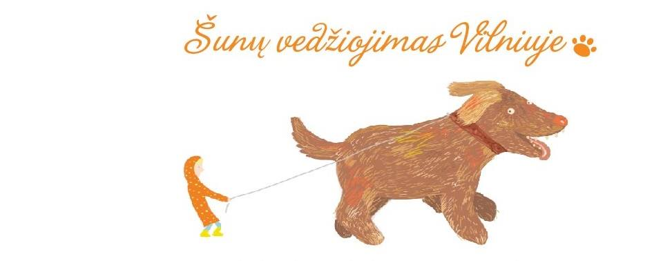Šunų vedžiojimas Vilniuje Dog walking in Vilnius