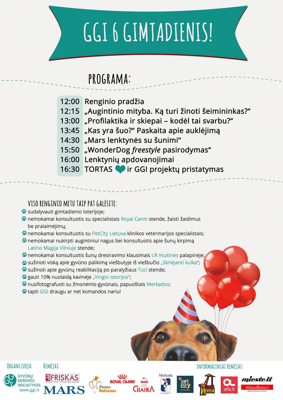 """""""Gyvūnų gerovės iniciatyvos"""" švęs savo 6 – ąjį gimtadienį© Organizatoriai"""