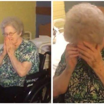 Netikėta staigmena močiutei pravirkdė ne tik ją, bet ir internautus