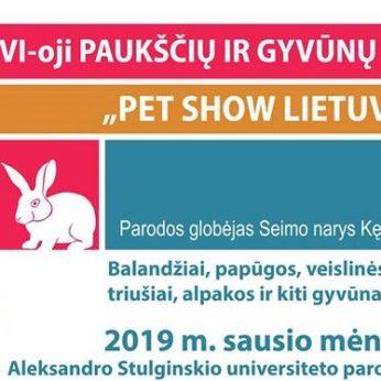 PET SHOW Lietuva. Didžiausia paukščių ir gyvūnų paroda.