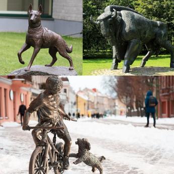 Istorinės gyvūnų skulptūros Lietuvoje: tai turi pamatyti kiekvienas!