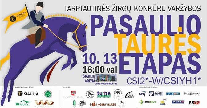 Tarptautinės žirgų konkūrų varžybos Šiaulių arenoje