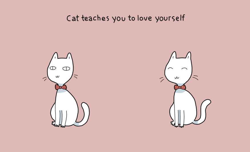 Katė išmoko meilės sau