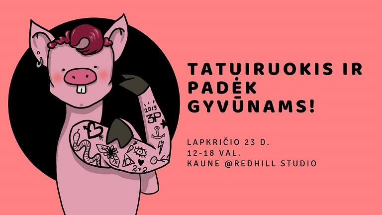 Tatuiruokis ir padėk gyvūnams!