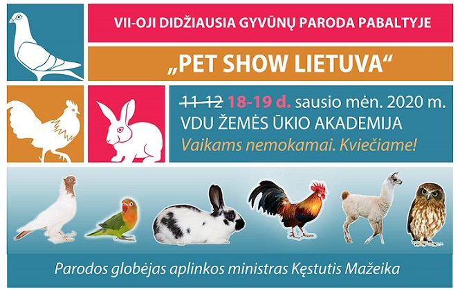"""Didžiausia gyvūnų paroda Pabaltyje """"PET SHOW Lietuva"""" 2020"""