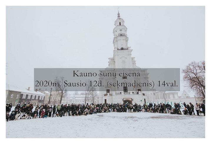 Kauno šunų eisena (2020-01-12)