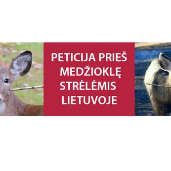 Peticija prieš medžioklę strėlėmis Lietuvoje