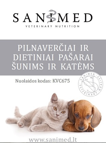 SANIMED pašarai šunims ir katėms